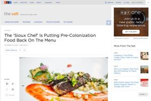 Sioux Chef on NPR